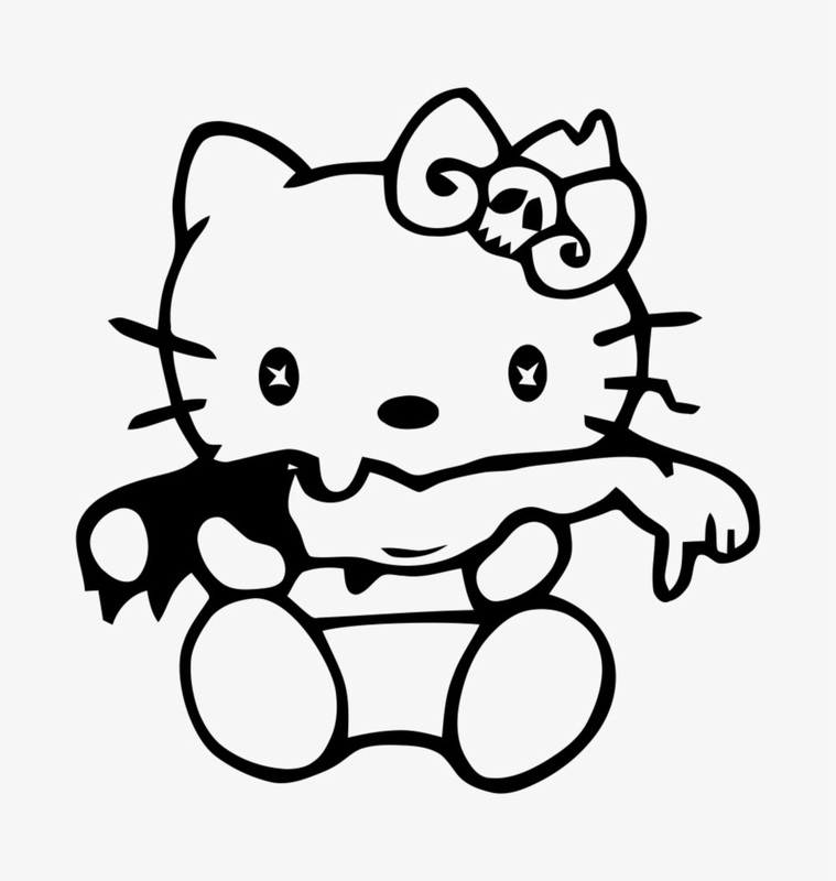 punk hello kitty coloring pages - photo#10